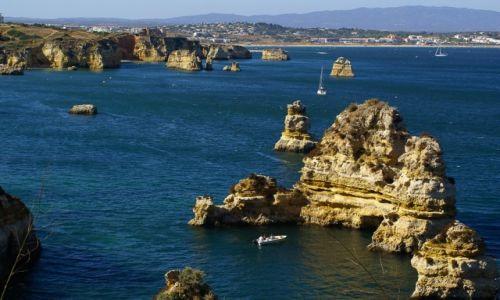 Zdjęcie PORTUGALIA / Algarve / Lagos / Skałki wybrzeża