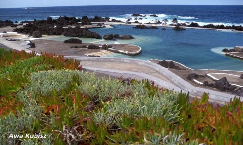 PORTUGALIA / Wyspa Madera / Porto Moniz / Baseny skalne w Porto Moniz