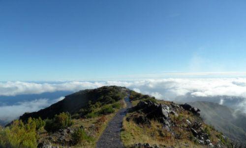 Zdjecie PORTUGALIA / Madera / Pico Ruivo / Droga do nieba