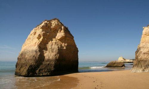 Zdjecie PORTUGALIA / algarve / praia de rocha / skałka