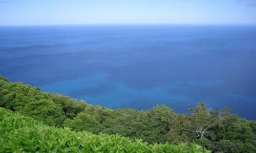 Zdjęcie PORTUGALIA / AZORY / SAO MIGUEL  / zieleń przyrody vs niebieść oceanu