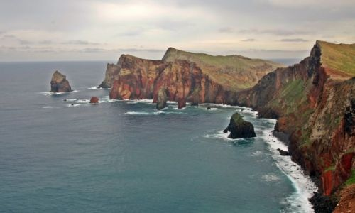 PORTUGALIA / Madera / Ponta de Sao Laurenco / Kolorowe skały