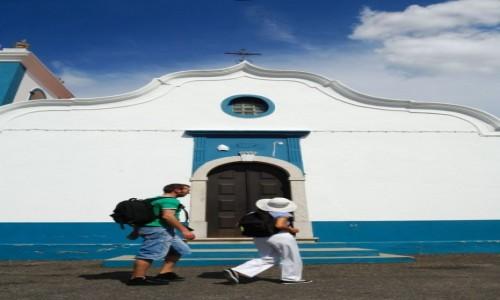PORTUGALIA / Alentejo / Kościół w S. Luís / Rota Vicentina- Circular Routes- S Luís Gardens