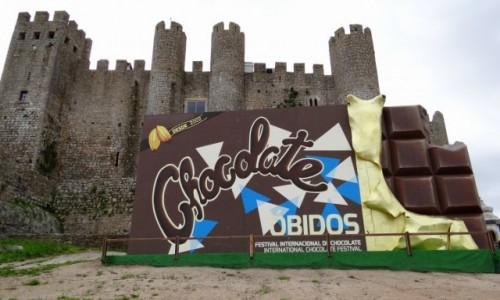 Zdjecie PORTUGALIA / Leiria / Óbidos / Międzynarodowy Festiwal Czekolady