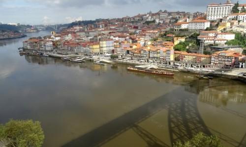 PORTUGALIA / p�nocna Portugalia / Porto / Ponte Dom Lu�s li tylko cie� ;)