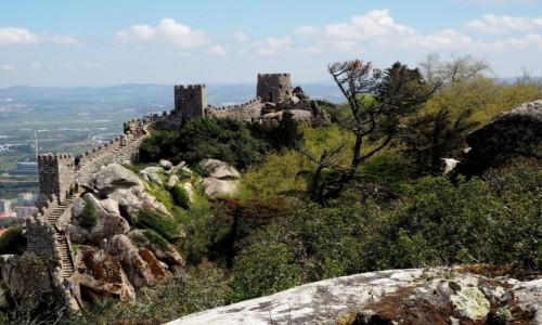 Zdjęcie PORTUGALIA / zachodnia część Półwyspu Iberyjskiego / Sintra / Zamek Maurów