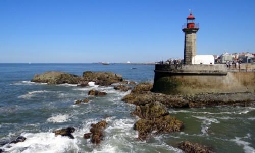 PORTUGALIA / Porto / Foz do Douro / Pocałunek Rzeki z Oceanem