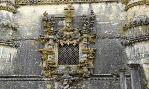 Zdjęcie PORTUGALIA / Centrum / Tomar- Klasztor Zakonu Chrystusa / Najsłynniejsze okno w Portugalii