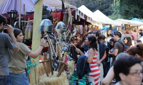 PORTUGALIA / Porto e Norte / Santa Maria da Feira / Jarmark podczas festiwalu Viagem Medieval em Terra de Santa Maria