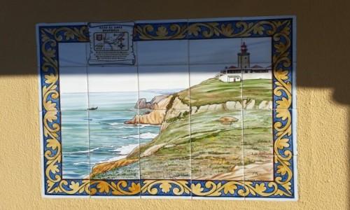 Zdjęcie PORTUGALIA / Park Narodowy Sintra-Cascais / Cabo da Roca / Cabo da Roca na azulejos