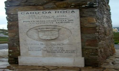 Zdjęcie PORTUGALIA / Park Narodowy Sintra-Cascais / Cabo da Roca / Obelisk
