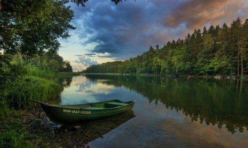 POLSKA / wrmi�sko-mazurski / Kretowiny / jezioro Narie