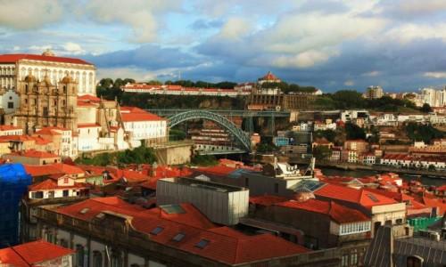 Zdjęcie PORTUGALIA / Porto / Miradouro da Vitória / Słońcem malowane
