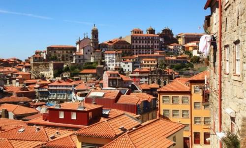 Zdjęcie PORTUGALIA / Porto / Ribeira / Dachy