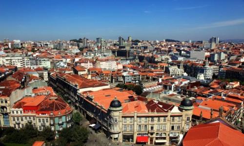 Zdjęcie PORTUGALIA / Porto / Clerigos / Panorama miasta