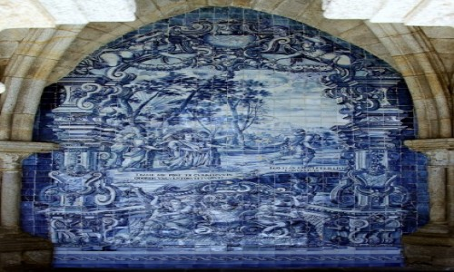 Zdjęcie PORTUGALIA / Porto / Katedra Se do Porto / Azulejo - ceramiczne obrazy