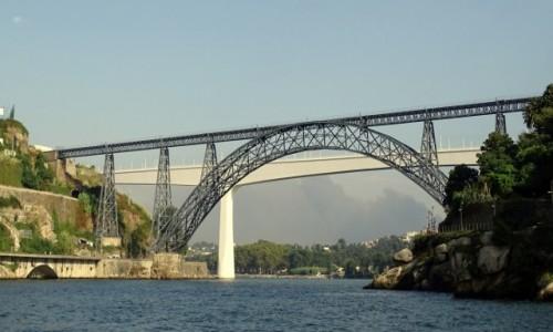 Zdjęcie PORTUGALIA / Północ / Porto- most Maria Pia / Gustawa Eiffla