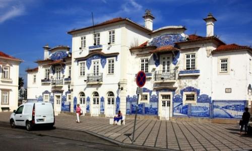 PORTUGALIA / Aveiro / Dworzec kolejowy / Jedyny taki
