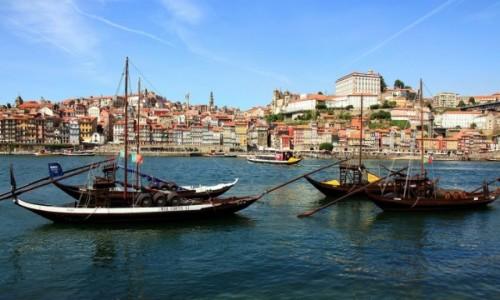 PORTUGALIA / Porto / Rzeka Douro / �odzie rabelo