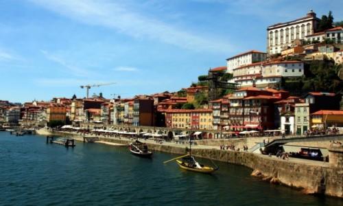 Zdjęcie PORTUGALIA / Porto / Ponte Luís I /  Cais da Ribeira
