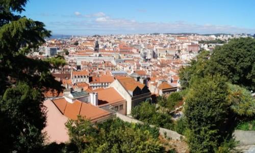 Zdjęcie PORTUGALIA / Lizbona / Zamek / Lizbona z góry