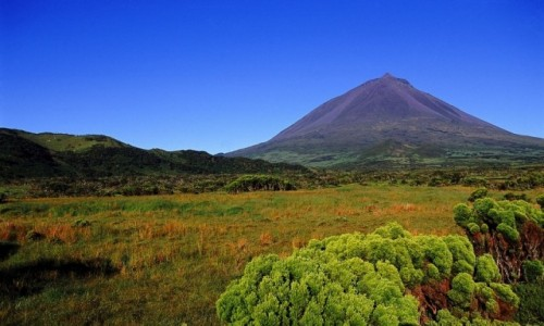 PORTUGALIA / Azory / wyspa Pico / Krajobraz wulkaniczny wyspy Pico – Azory