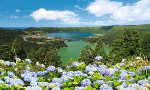 Zdjecie PORTUGALIA / Azory / wyspa São Miguel / Jezioro Lagoa das Sete Cidades – wyspa São Miguel – Azory