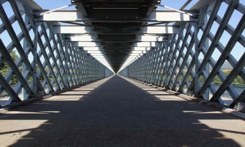 Zdjecie PORTUGALIA / Viana do Castelo / Valenca do Minho / Most na rzece Minho
