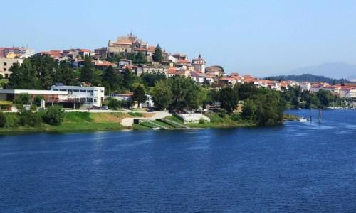 Zdjecie PORTUGALIA / Viana do Castelo / Most na rzece Minho / Widok na Tui