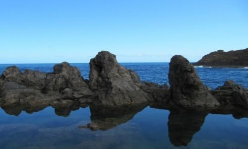 PORTUGALIA / Madera / okolice Porto Moniz / naturalny basen lawowy