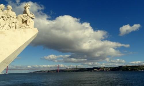 PORTUGALIA / Lizbona / Dzielnica Betlejemska- Pomnik Odkrywców, strona zachodnia (fragment) / Odkrywcy i ich świat
