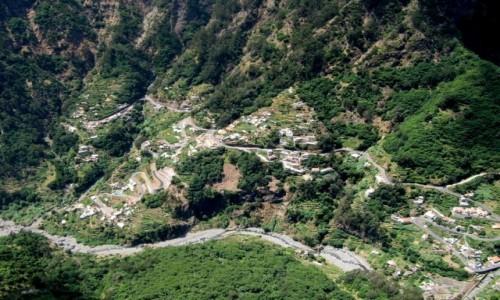 Zdjęcie PORTUGALIA / Madera / okolice Funchal / Dolina Zakonnic z góry