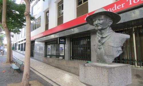 Zdjęcie PORTUGALIA / Madera / Madera / Pomnik Baden Powela w Funchal - Madera