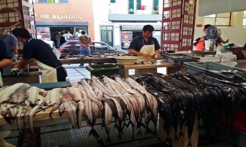 Zdjecie PORTUGALIA / Funchal / Mercado dos Lavradores / Espada