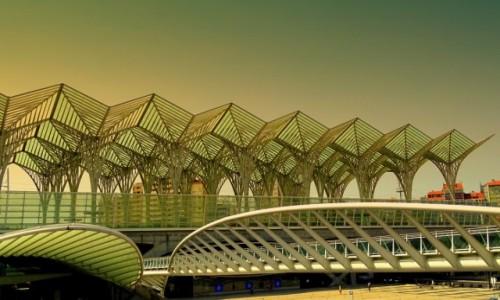 Zdjęcie PORTUGALIA / Centrum / Lizbona  - Park Narodów - Dworzec Oriente  / Santiago Calatrava - w Lizbonie