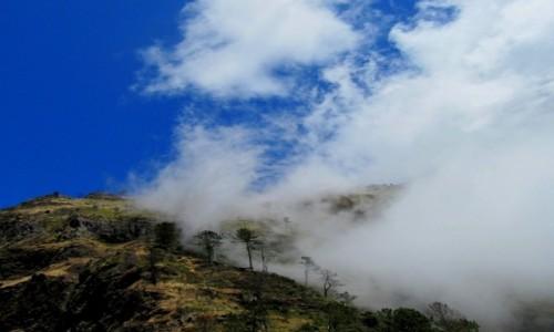 Zdjecie PORTUGALIA / Madera / okolice Doliny Zakonnic / Góra w chmurach