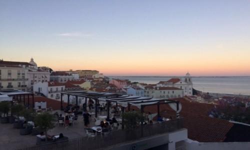 PORTUGALIA / Lizbona / Lizbona / Zachód Słońca w Lizbonie