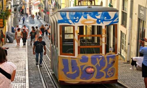 Zdjecie PORTUGALIA / - / Lizbona / Kolej linowo-terenowa