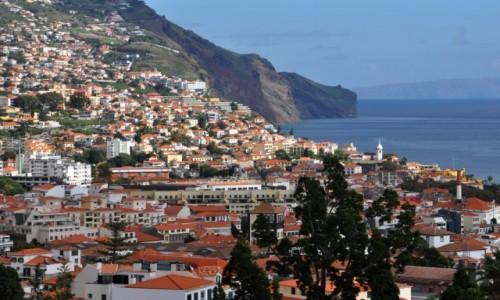 Zdjęcie PORTUGALIA / Madera / Funchal / Widok na stolicę Madery
