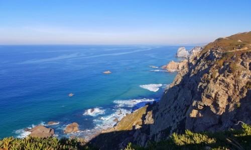 Zdjecie PORTUGALIA / Park Narodowy Sintra–Cascais / Cabo da Roca / Listopadowe błękity