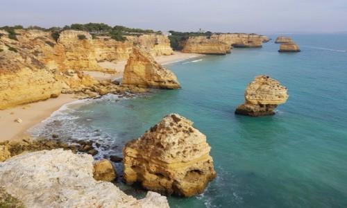 Zdjęcie PORTUGALIA / Algarve / Praia da Marinha / Klify