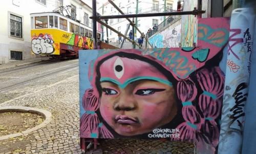 Zdjęcie PORTUGALIA / Lizbona / Bairro Alto / Street art