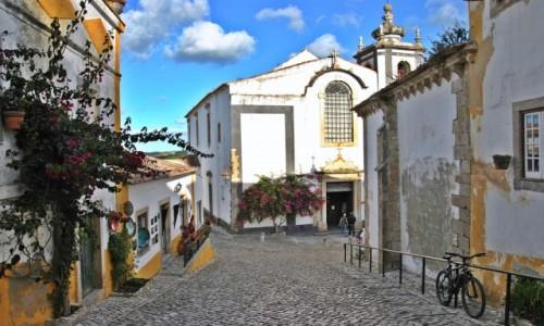 Zdjecie PORTUGALIA / dystrykt Leiria / Obidos / kolorowe Obidos