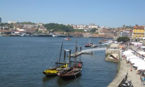 Zdjęcie PORTUGALIA / Porto / Rzeka Duero w Porto / Porto