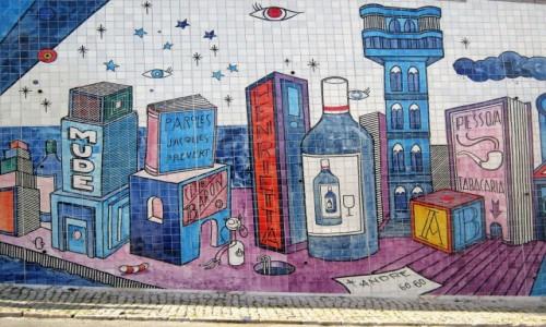 Zdjecie PORTUGALIA / Lizbona / Lizbona / Azulejos - popularne plytki w Portugalii