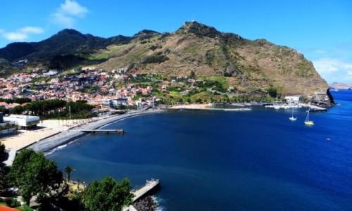 Zdjecie PORTUGALIA / Madera / Machico / panorama zatoki