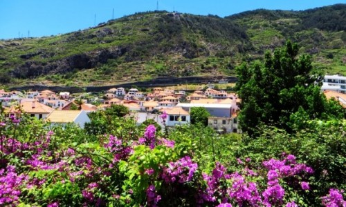 PORTUGALIA / Madera / Machico / Machico miasto kwiatów