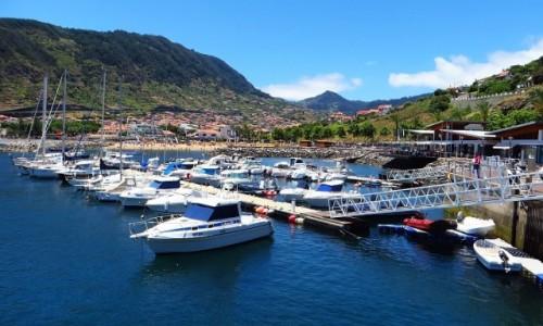 Zdjęcie PORTUGALIA / Madera / Machico / marina w Machico