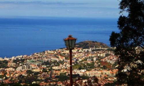 Zdjęcie PORTUGALIA / Madera / Funchal / panorama Funchal z Monte