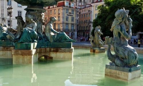 Zdjęcie PORTUGALIA / - / Lizbona / Na Placu  Rossio